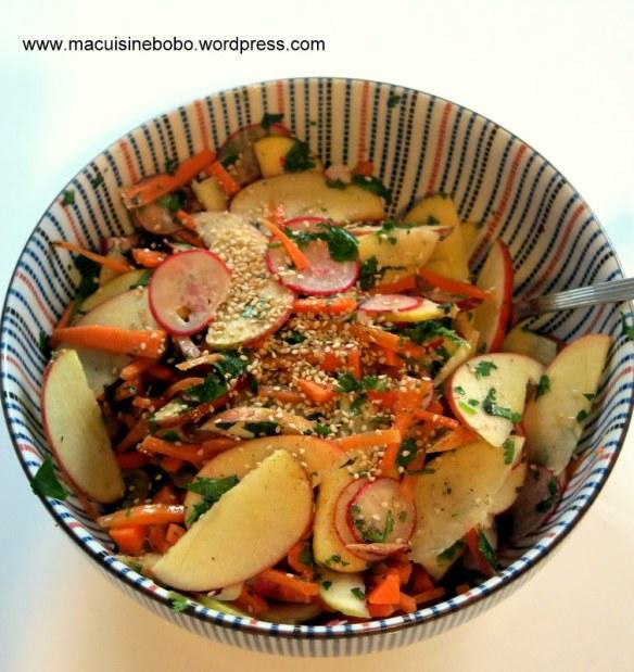 salade pommes carottes sésame_cuisine bobo