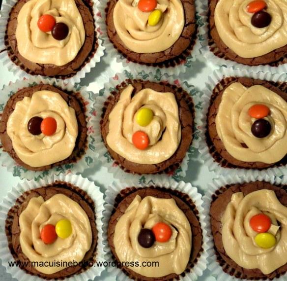 cupcake chocolat beurre de cacahuète